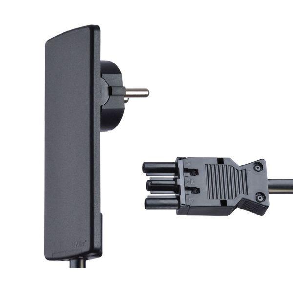 EVOline PlugFIX mit 1,5 m Anschlussleitung und GST18 Buchse (Wieland), schwarz