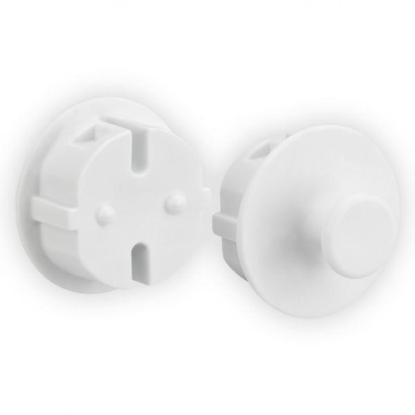 Steckdosenschutz mit Aufhängehaken DODO, 2er-Pack weiß