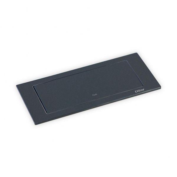 EVOline BackFlip Cuisine, 180° drehbar, matt schwarz lackiert, 2 ...