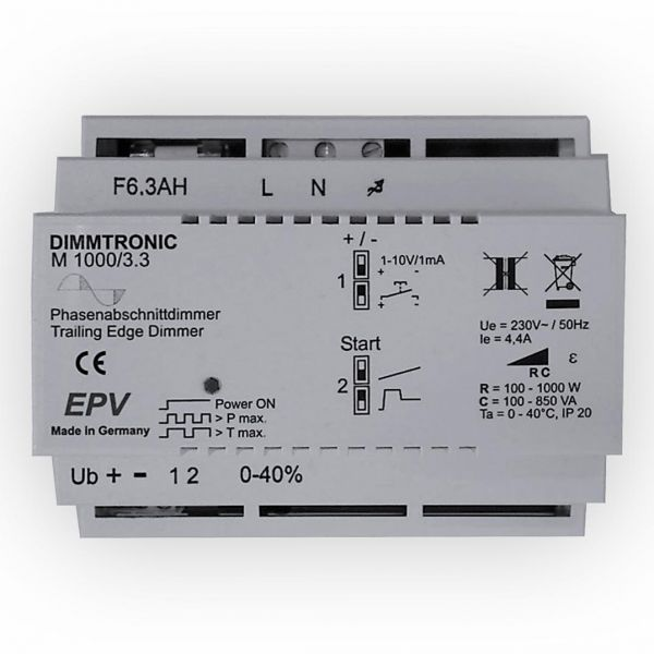 Hutschienen Phasenabschnittdimmer DIMMTRONIC M1000/3.3