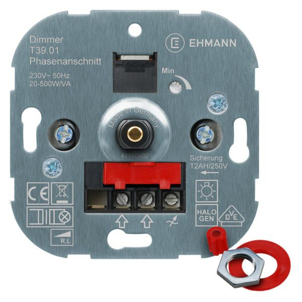 UP-Phasenanschnitt-Dimmer T39s, für NV-Halogenlampen, Druck-Wechsel-Schalter 500W