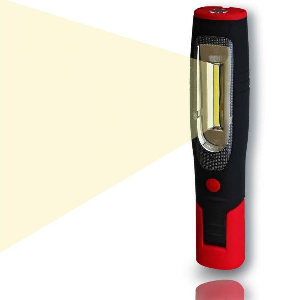 LED Akku Arbeitsleuchte LEDmaxx, Stab-Handleuchte, 6500K, IP54