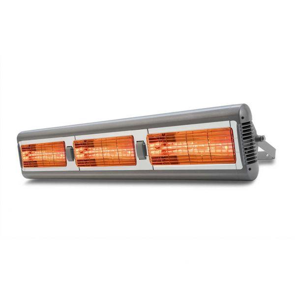 "Infrarot Quarz-Heizstrahler Sorrento Triple IP55 ""Professional"" silber, 3 x 1,5 kW"