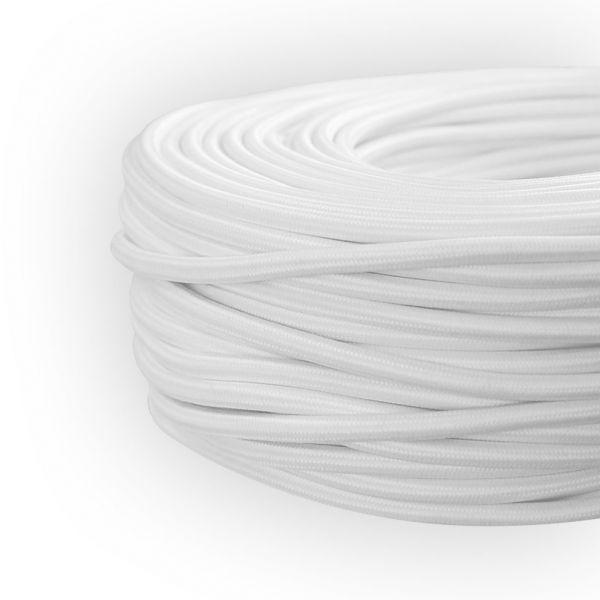 Textilleitung, Textilkabel, Stoffkabel LEDmaxx weiß, 3-adrig H03VV-F 3x0,75mm²