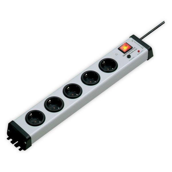 """5-fach Steckdosenleiste IT-19"""", Geräteschutz Akustik plus, 1,5 m Zuleitung"""