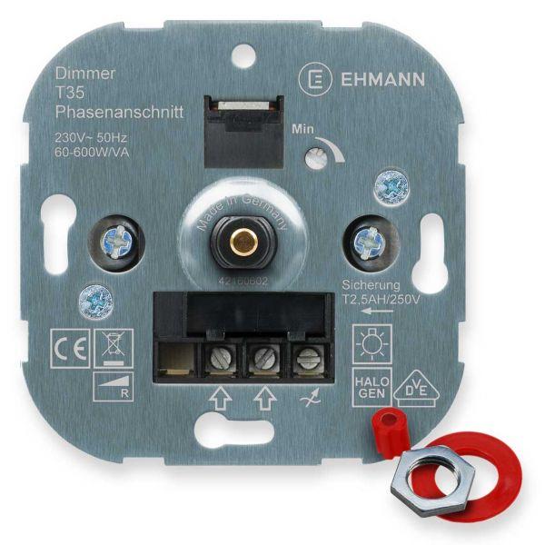 UP-Phasenanschnitt-Dimmer T35s, für Glühlampen, Druck-Wechsel-Schalter 600W