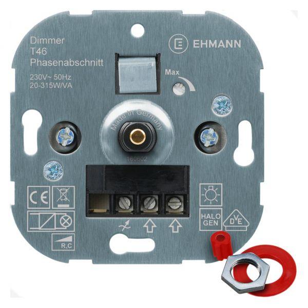 UP-Phasenabschnitt-Dimmer T46s, für NV-Halogenlampen, Druck-Wechsel-Schalter 315W