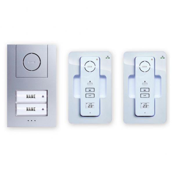 Digitales Funk-Türsprechanlagen-Set für 2-Familienhaus AC 220