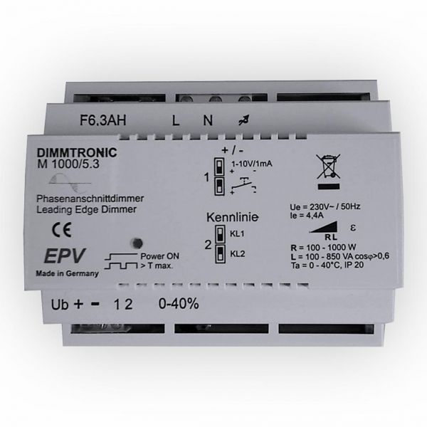 Hutschienen Phasenanschnittdimmer DIMMTRONIC M1000/5.3
